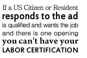 PERM Labor Certification | Olender